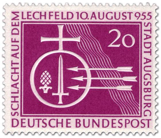 Briefmarke: Augsburg - Schlacht auf dem Lechfeld