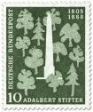 Briefmarke: Bäume und Denkmal für Adalbert Stifter (Schriftsteller)