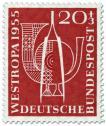 Pinzette Posthorn (Briefmarkenausstellung 1955)