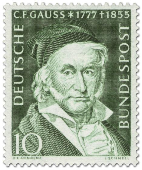 Briefmarke: Carl Friedrich Gaus (Mathematiker, Physiker)