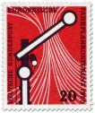Briefmarke: Eisenbahnsignal Schienen (Fahrplankonferenz in Wiesbaden)