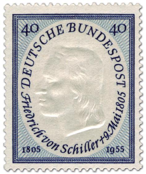 Briefmarke: Friedrich von Schiller (Dichter) 150. Todestag