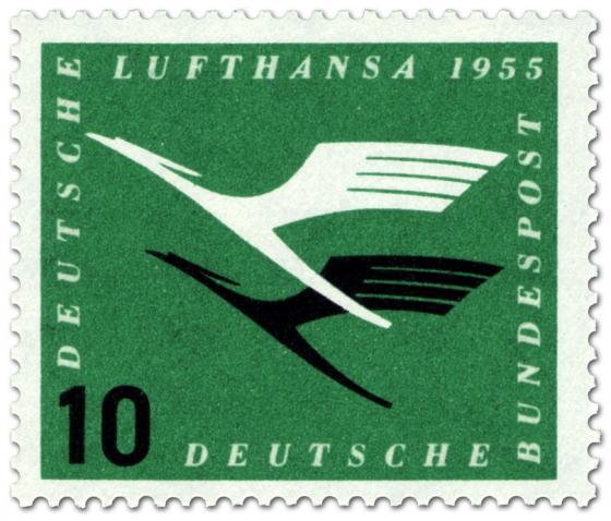Briefmarke: Lufthansa Logo, Kranich (10)