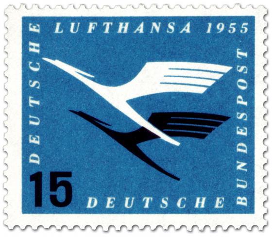 Briefmarke: Lufthansa Logo Kranich (15)