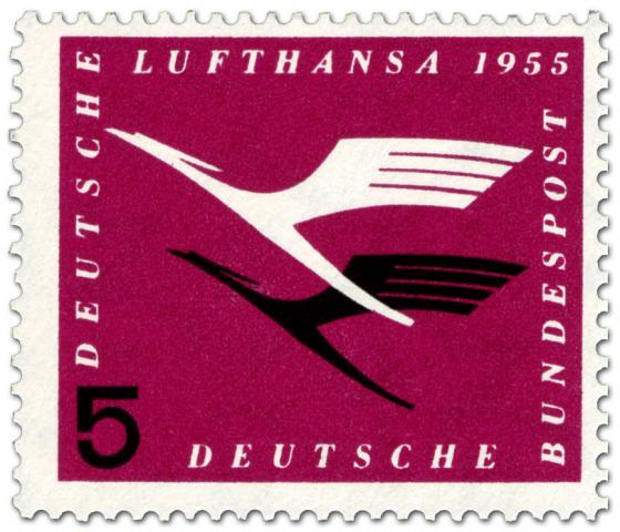 Briefmarke: Lufthansa Logo, Kranich (5)