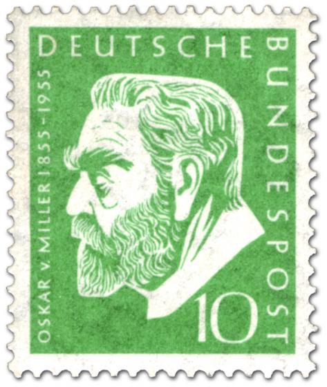Briefmarke: Oskar von Miller (Bauingenieur)
