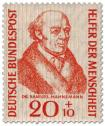 Briefmarke: Samuel Hahnemann (Arzt, Begründer der Homöopathie)