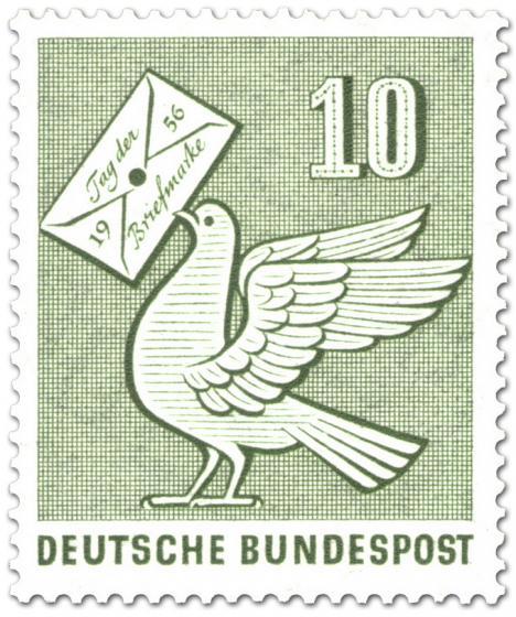 Briefmarke: Brieftaube (Tag der Briefmarke)