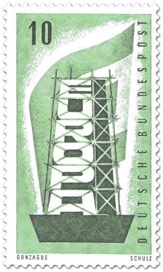 Briefmarke: Europamarke (Gerüst  und Fahne), 10