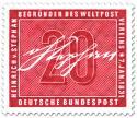 Unterschrift von Heinrich von Stephan (Mitbegründer des Weltpostvereins)