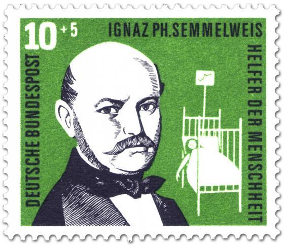 Briefmarke: Ignaz Semmelweis (Arzt, Hygiene)