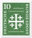 Briefmarke: Jerusalemkreuz (Deutscher ev. Kirchentag, 10)