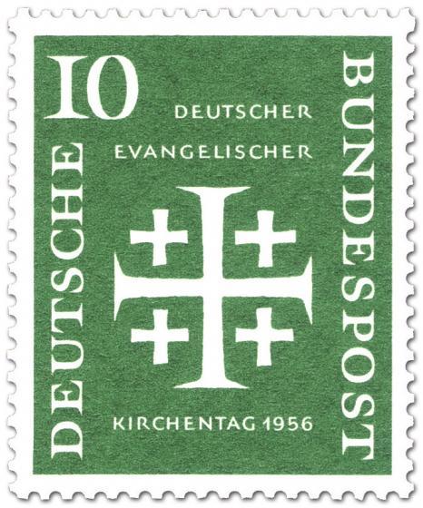 Briefmarke: Jerusalemkreuz (Deutscher ev. Kirchentag, 10)