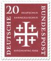Briefmarke: Jerusalemkreuz (Deutscher ev. Kirchentag, 20)