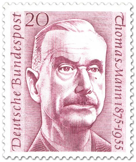Briefmarke: Thomas Mann (Schriftsteller, 1. Todestag)