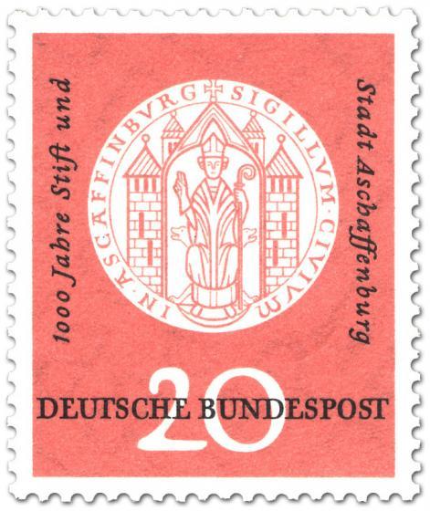 Briefmarke: Siegel von Aschaffenburg
