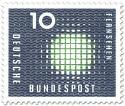 Briefmarke: Fernsehen: Bild-Flimmern
