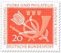 Briefmarke: Tulpe und Posthorn (Briefmarkenausstellung)