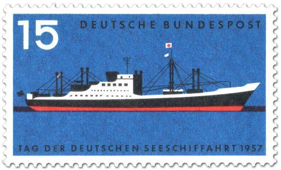 Briefmarke: Tag der dt. Seeschifffahrt (Frachtschiff Bayernstein)