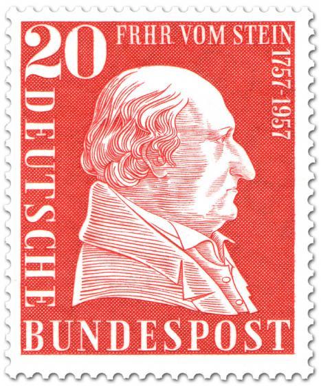 Briefmarke: Freiherr vom und zum Stein (200. Geburtstag)