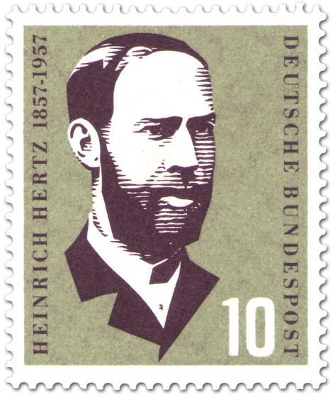 Briefmarke: Heinrich Hertz (Physiker)