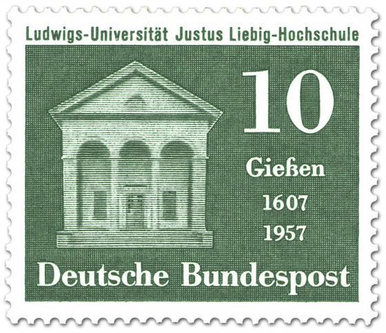 Briefmarke: 350 Jahre Justus Liebig Universität Giessen