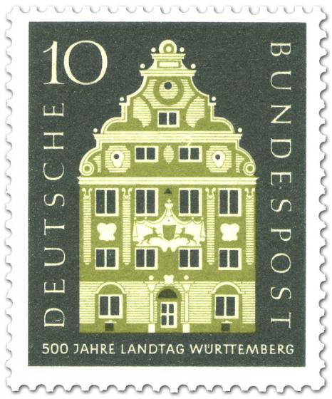 Briefmarke: Landschaftshaus Stuttgart (Baden Württemberg)