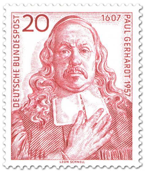 Briefmarke: Paul Gerhardt Theologie Kirchenlieder