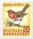 Briefmarke: Rotkehlchen