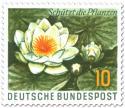 Briefmarke: Weiße Seerose - Schützt die Pflanzen