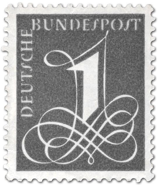 Deutsche Bundespost 1 1958 Briefmarke 1958
