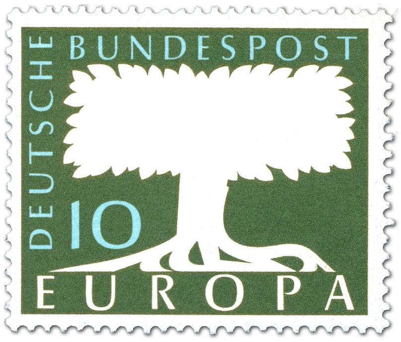 Europamarke Baum 1958 Briefmarke 1958