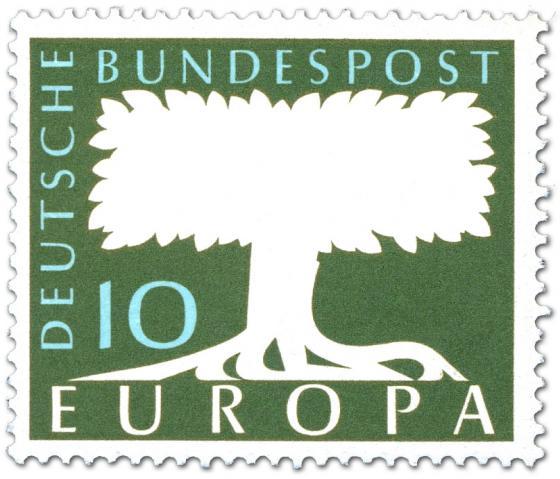 Briefmarke: Europamarke Baum 1958