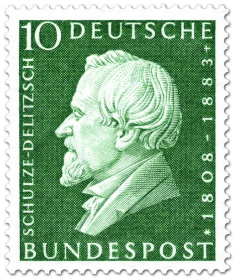 Briefmarke: Hermann Schulze-Delitzsch (Politiker)