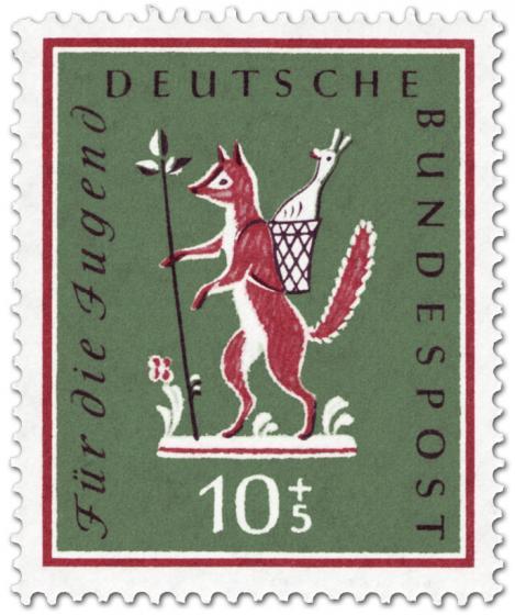 Briefmarke: Fuchs, du hast die Gans gestohlen (Kinderlied)