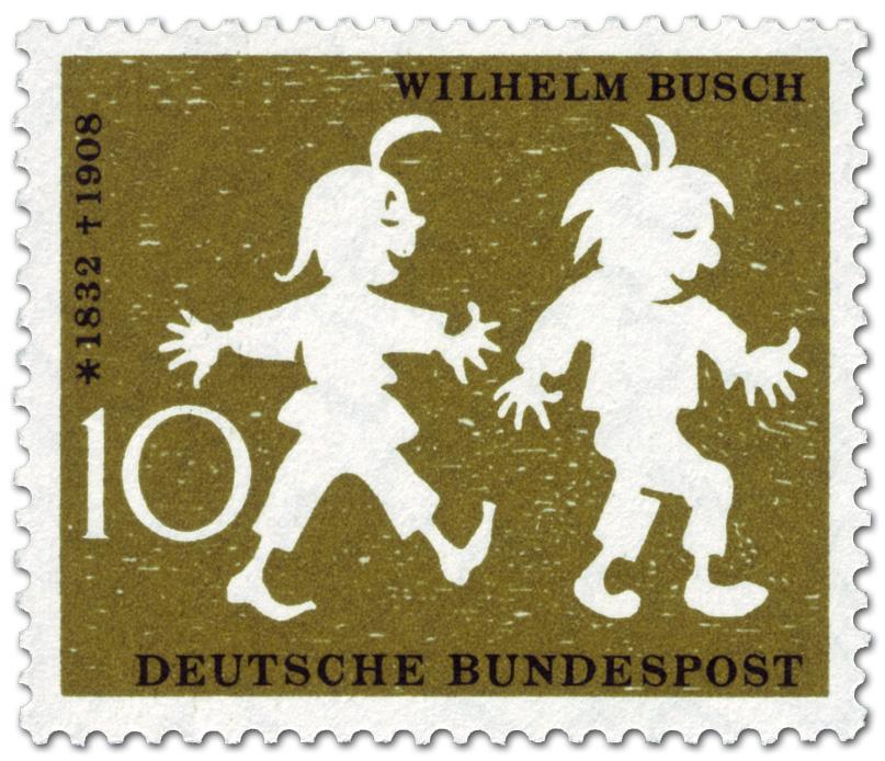 Max Und Moritz Wilhelm Busch Briefmarke 1958