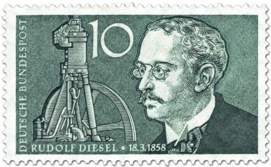 Briefmarke: Rudolf Diesel (Erfinder des Dieselmotors)