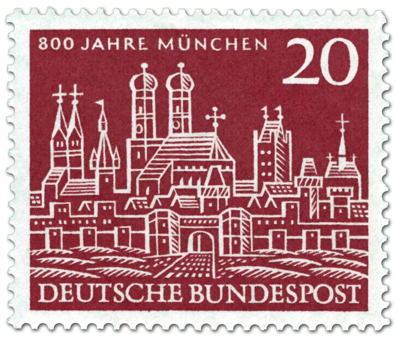 800 Jahre München Briefmarke 1958