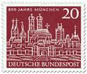 Briefmarke: 800 Jahre München