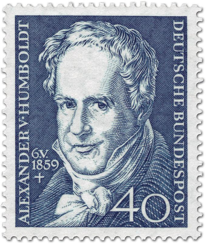 Briefmarke alexander von humboldt naturforscher geograph