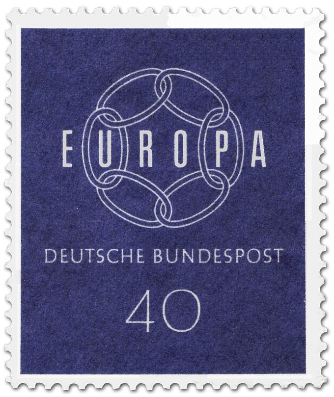 Europamarke 1959 Kette 40 Briefmarke 1959