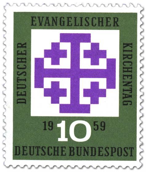Briefmarke: Evangelischer Kirchentag München 1959 (Kreuze)