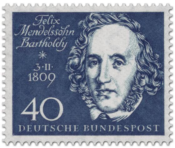 Briefmarke: Felix Mendelssohn Bartholdy (Komponist)