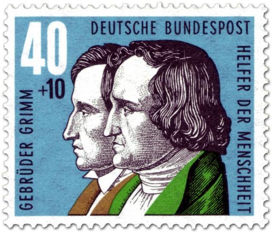 Briefmarke: Gebrüder Grimm (Grimms Märchen)