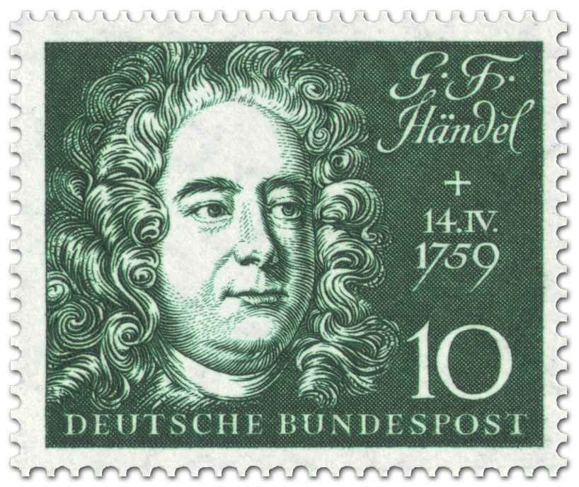 poster georg friedrich hndel briefmarke georg friedrich hndel komponist - Georg Friedrich Handel Lebenslauf