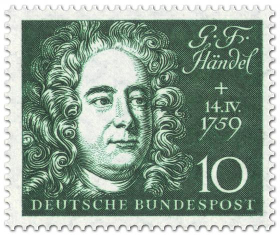 Briefmarke: Georg Friedrich Händel (Komponist)