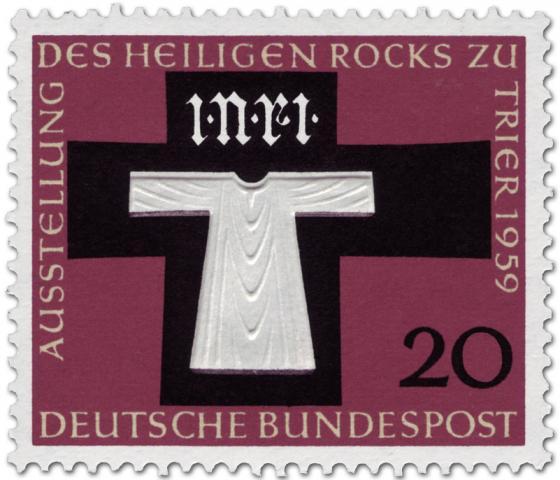 Briefmarke: Ausstellung des Heiligen Rock zu Trier 1959