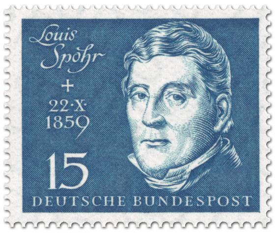 Briefmarke: Louis Spohr (Komponist, Geiger)