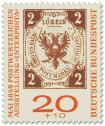 Briefmarke: Lübecker Zwei-Schilling-Briefmarke (Interposta 1959)
