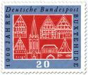 Briefmarke: Stadtansicht von Buxtehude (1000 Jahre)